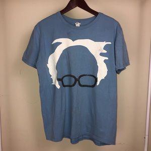 Bernie Sanders Blue Graphic T-Shirt